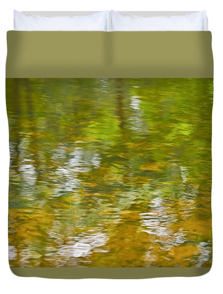Duvet Cover featuring the photograph Autumn Reflections by Wanda Krack