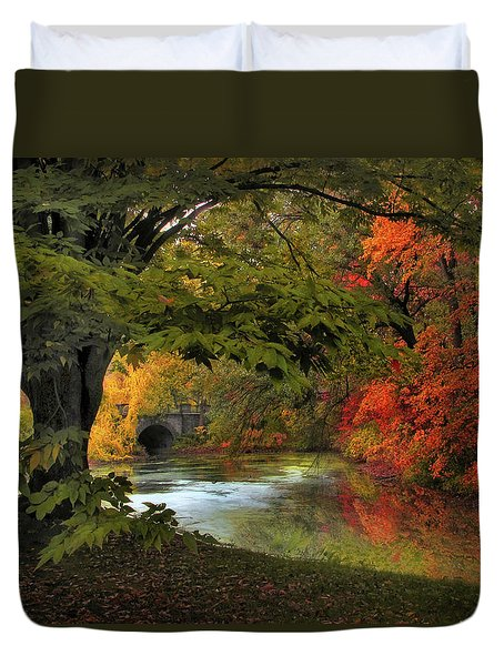 Duvet Cover featuring the photograph Autumn Reverie by Jessica Jenney