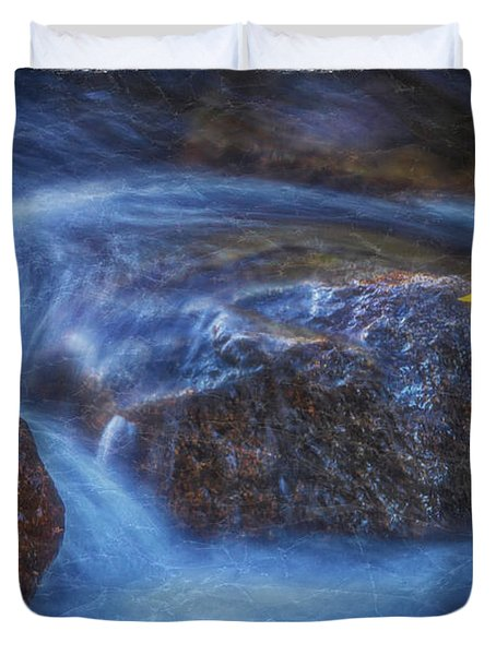 Duvet Cover featuring the photograph Autumn Ripples by Mitch Shindelbower