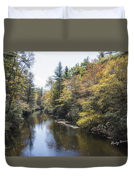 Autumn River Duvet Cover by Ricky Dean