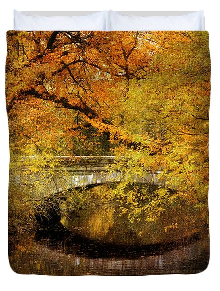 Autumn River Views Duvet Cover by Jessica Jenney