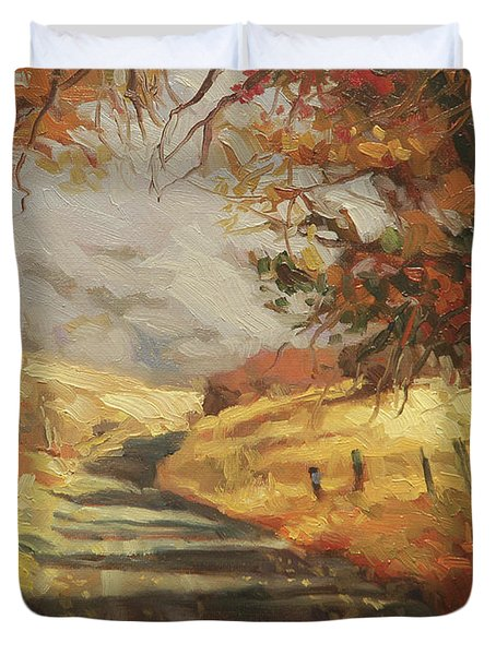 Autumn Road Duvet Cover
