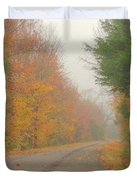 Autumn Roads Duvet Cover