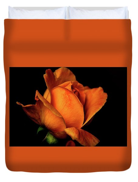 Duvet Cover featuring the photograph Autumn Rose by Julie Palencia