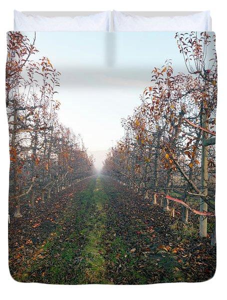 Autumn Rows Duvet Cover
