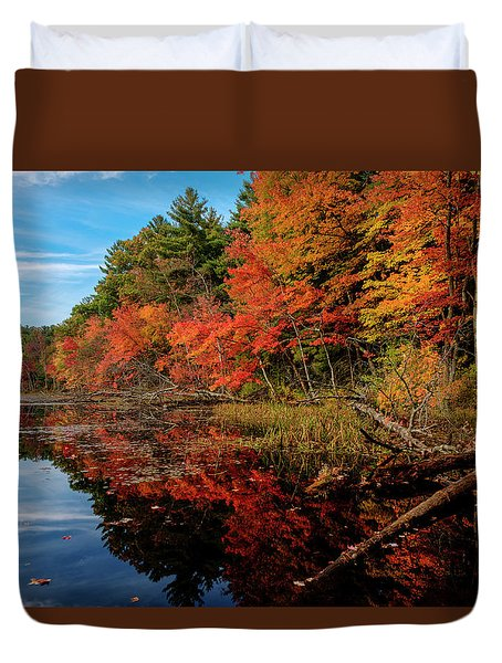 Autumn Scene Duvet Cover