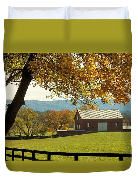 Autumn Shenandoah Barn Duvet Cover by Joyce Kimble Smith