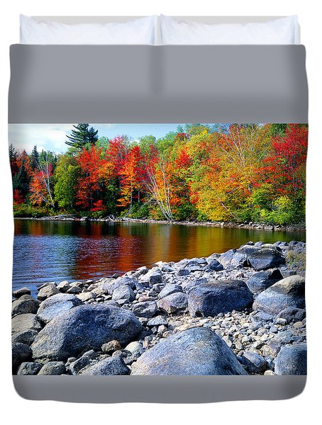 Autumn Shoreline Duvet Cover