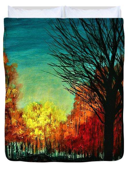 Autumn Silhouette  Duvet Cover