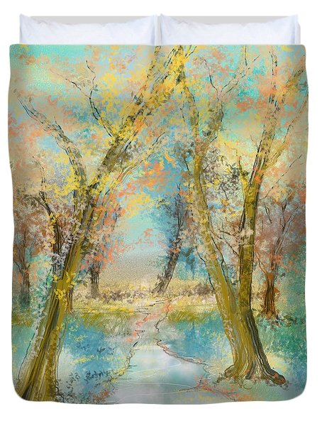 Autumn Sketch Duvet Cover
