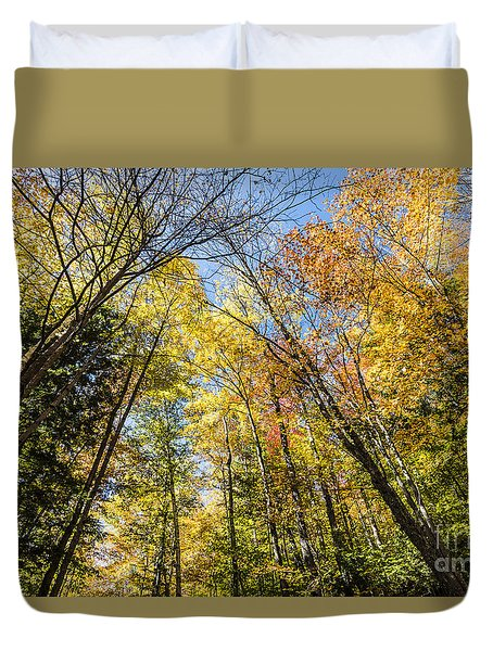 Duvet Cover featuring the photograph Autumn Skies by Anthony Baatz