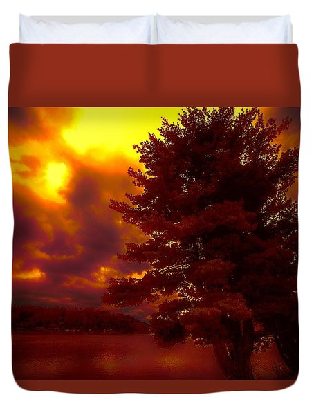 Autumn Skies L.junaluska Duvet Cover by Dennis Baswell