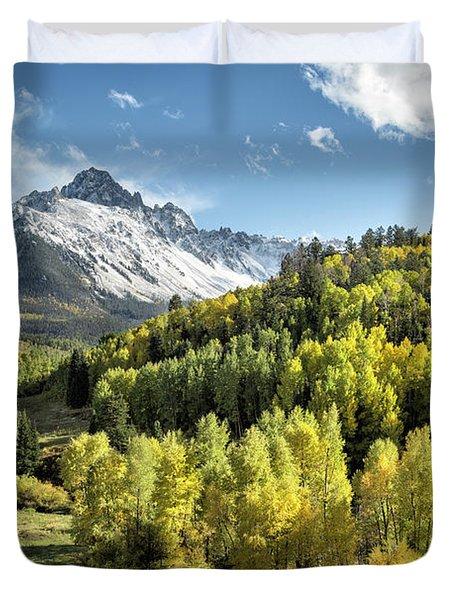 Autumn Snow On Sneffels Duvet Cover
