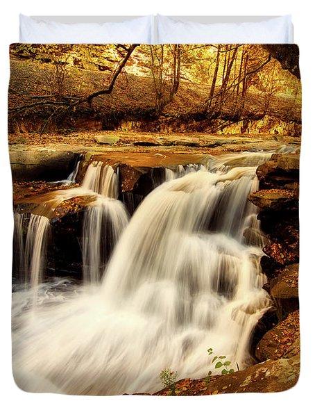 Autumn Solitude Duvet Cover by L O C