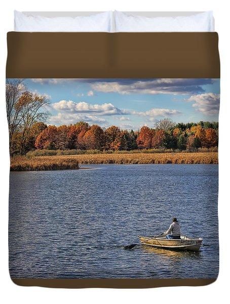 Autumn Solitude Duvet Cover by Pat Cook