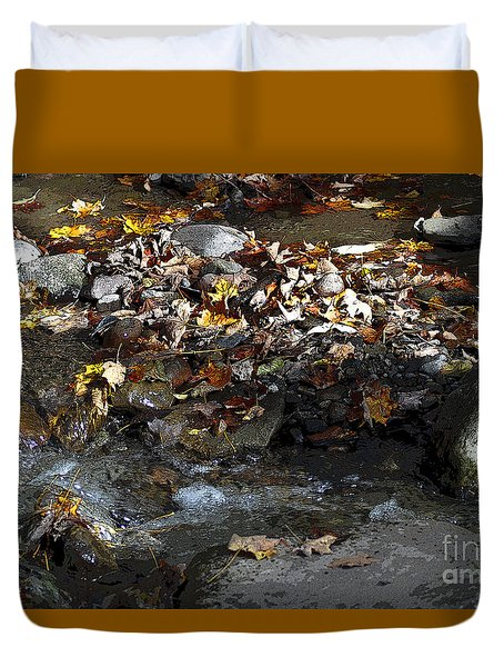 Duvet Cover featuring the drawing Autumn Soup by Diane E Berry