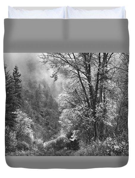 Autumn Sparkles On Green Mountain Duvet Cover by John Poon