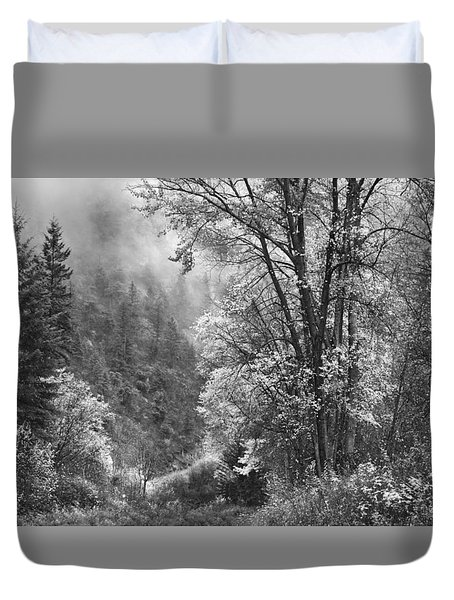 Autumn Sparkles On Green Mountain Duvet Cover