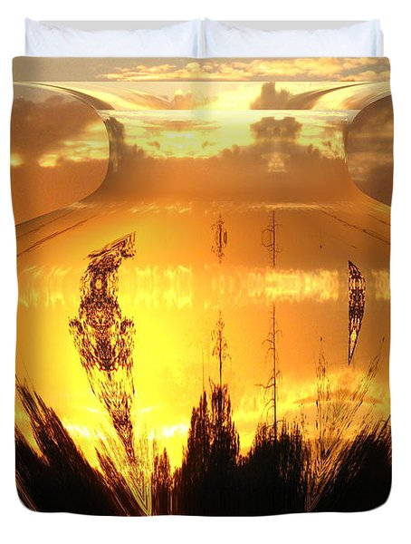 Duvet Cover featuring the photograph Autumn Spirits by Joyce Dickens