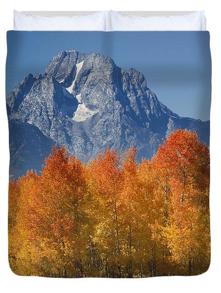 Autumn Splendor In Grand Teton Duvet Cover