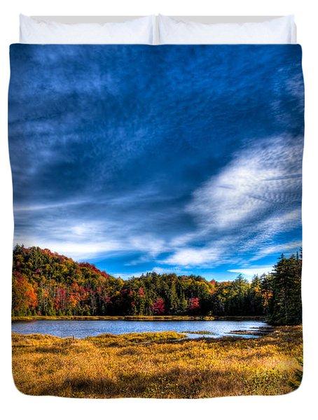 Autumn Splendor On Fly Pond Duvet Cover