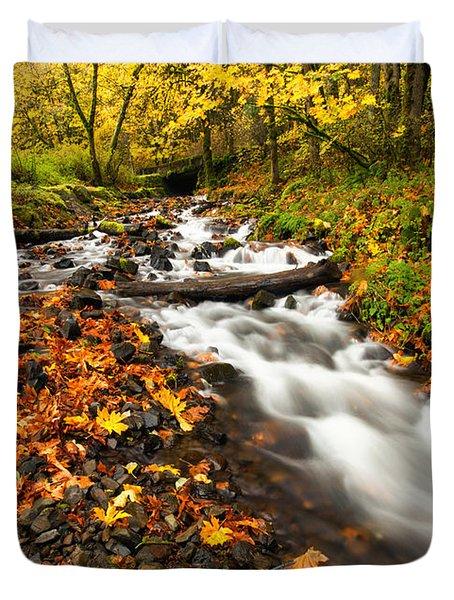 Autumn Split Duvet Cover by Mike  Dawson
