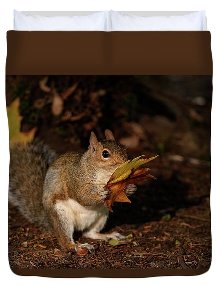 Autumn Squirrel Duvet Cover