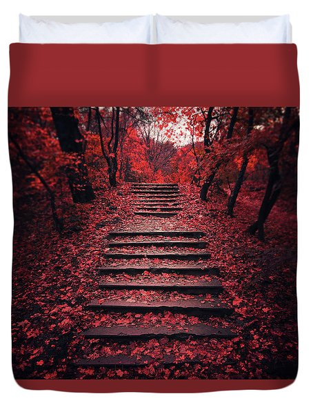 Autumn Stairs Duvet Cover
