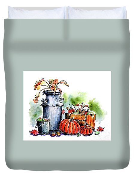 Autumn Still Life 1 Duvet Cover by Terry Banderas