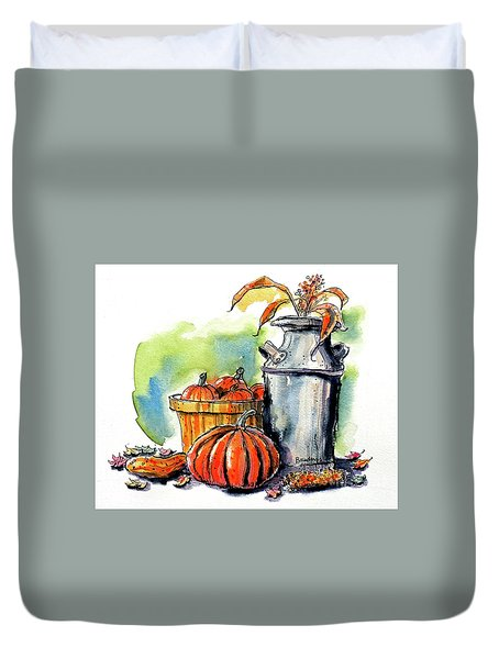 Autumn Still Life 2 Duvet Cover by Terry Banderas