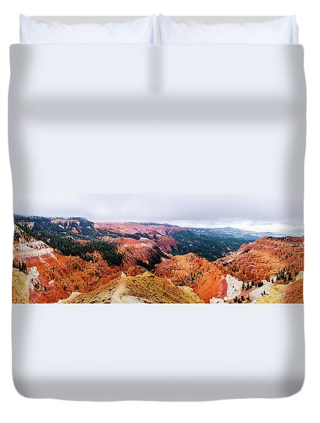 Duvet Cover featuring the photograph Autumn Storm At Cedar Breaks by TL Mair