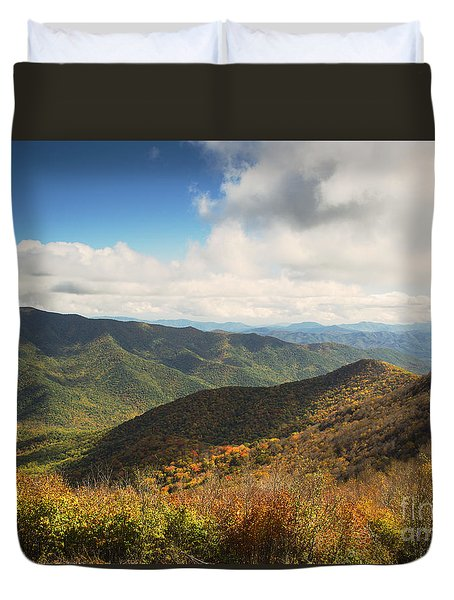 Autumn Storm Clouds Blue Ridge Parkway Duvet Cover