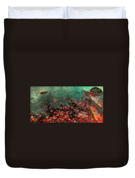 Duvet Cover featuring the photograph Autumn Submerged by David Patterson