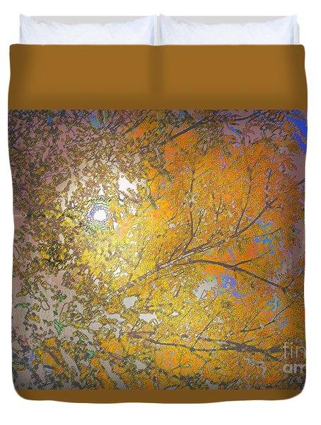 Autumn Sun Duvet Cover by Deborah Nakano