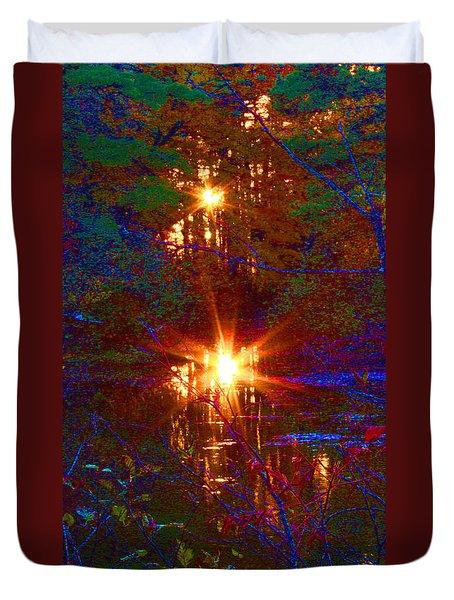 Autumn Sunburst Reflections Duvet Cover