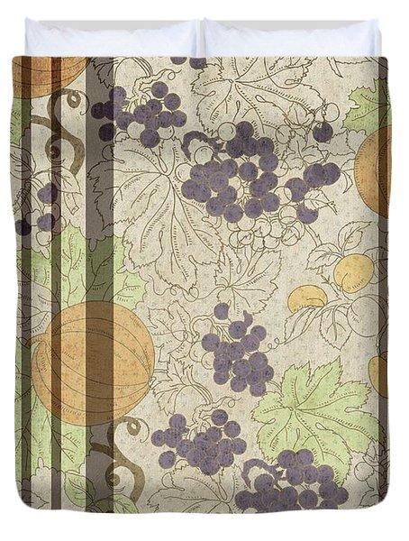 Autumn Sunflower Digital Illustration Duvet Cover by Heinz G Mielke