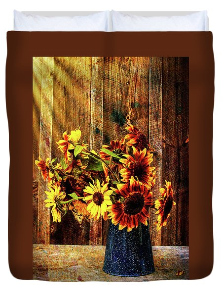 Autumn Sunflowers Duvet Cover