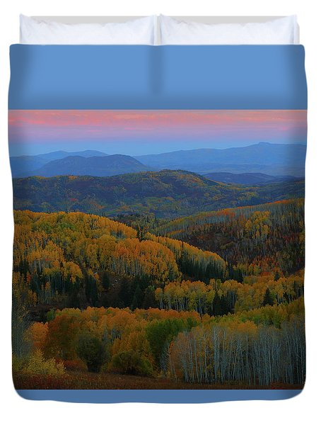 Autumn Sunrise At Rainbow Ridge Colorado Duvet Cover