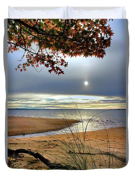 Autumn Sunrise On The James Duvet Cover