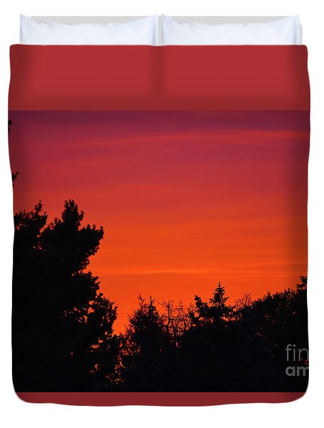 Autumn Sunrise Duvet Cover