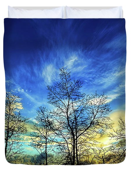 Duvet Cover featuring the photograph Autumn Sunset by ABeautifulSky Photography