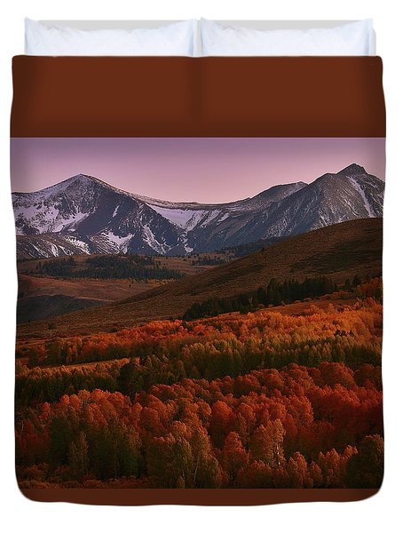 Autumn Sunset At Conway Summit In The Eastern Sierras Duvet Cover