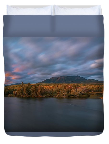 Autumn Sunset At Mount Katahdin Duvet Cover