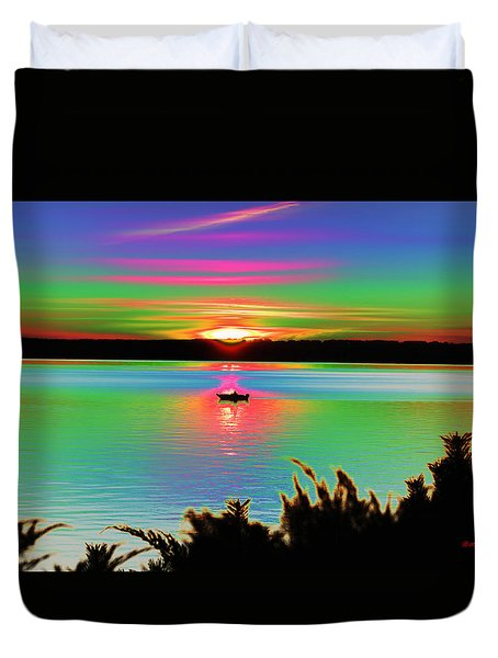 Autumn Sunset Duvet Cover