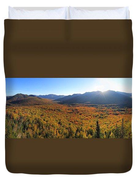 Autumn Sunset Over The Pemi Duvet Cover