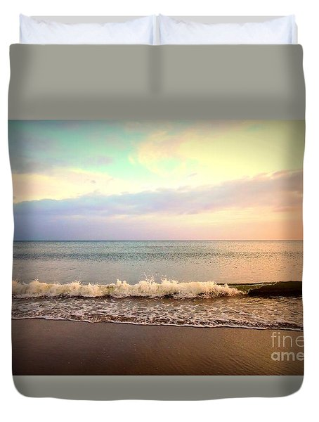 Duvet Cover featuring the photograph Autumn Sunset by Shelia Kempf