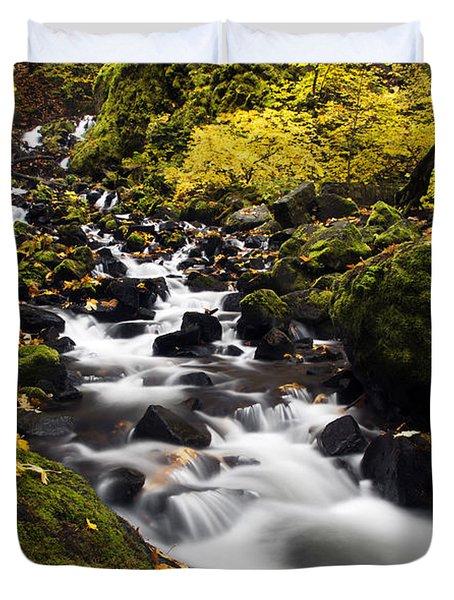 Autumn Swirl Duvet Cover by Mike  Dawson
