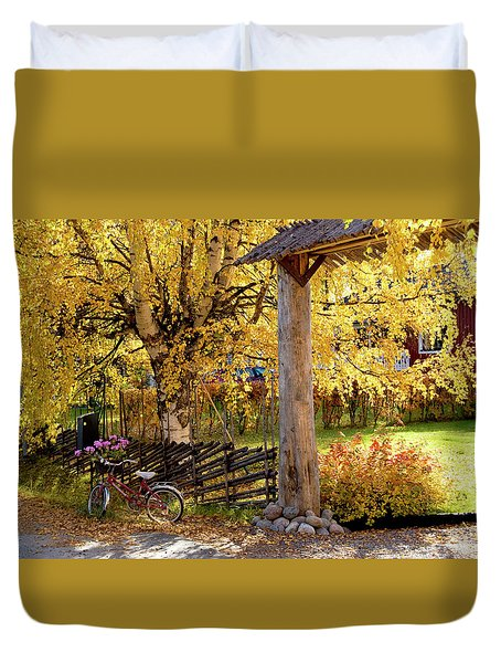 Rural Rustic Autumn Duvet Cover