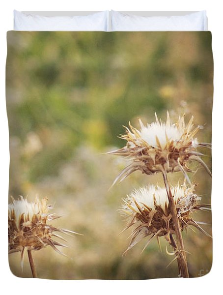 Duvet Cover featuring the photograph Autumn Thistles by Cindy Garber Iverson