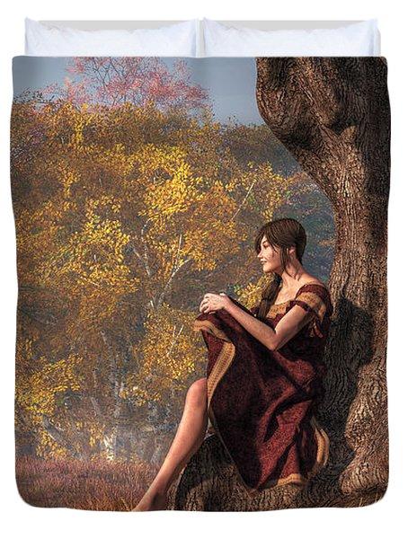 Autumn Thoughts Duvet Cover by Daniel Eskridge